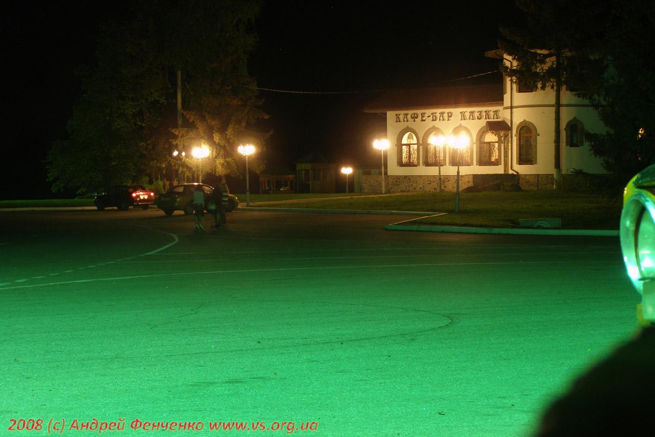 "Кафе-бар ""Казка"" ночью. Лето 2008"